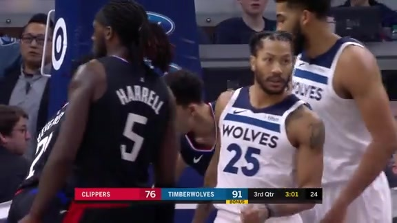 Derrick Rose Highlights: 22 Points And 6 Assists vs. Clippers (2/11/2019)