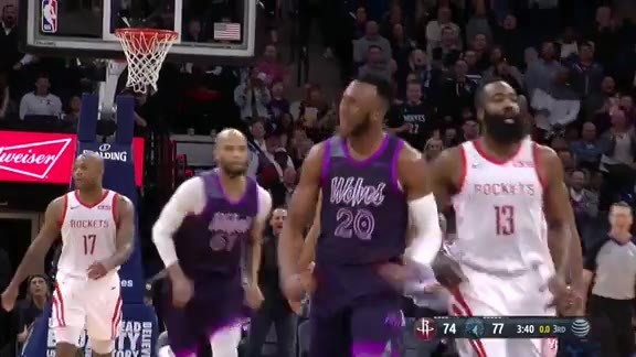 Okogie Stuffs James Harden As He Attempts A Step-Back