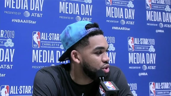 Full All-Star Media Availability | Karl-Anthony Towns