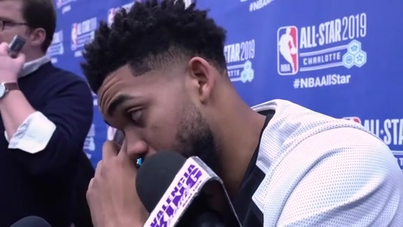 All-Star Postgame | Karl-Anthony Towns