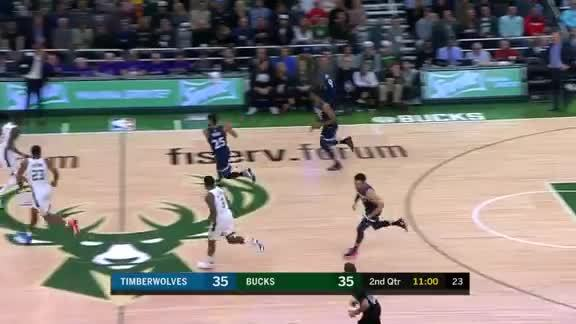 Tolliver With The HUGE Block On Giannis