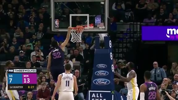 Highlights | Karl-Anthony Towns With 26 Points And 21 Rebounds vs. Warriors