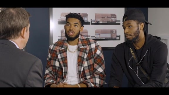 Karl-Anthony Towns And Andrew Wiggins Exclusive Interview