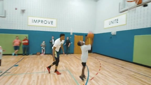Timberwolves Rookies Take Part In Clinic At Conway Community Center