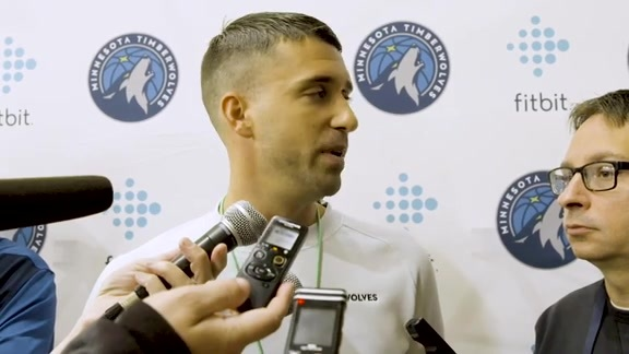 Timberwolves Coach Ryan Saunders At First Training Camp Practice