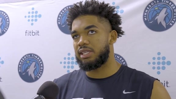 Karl-Anthony Towns Describes Passing As A Big Man (10.7.19)
