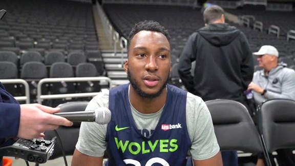 Josh Okogie Before Timberwolves' Last Preseason Game