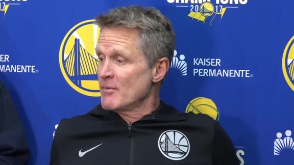 Warriors Talk: Steve Kerr - 1/22/18