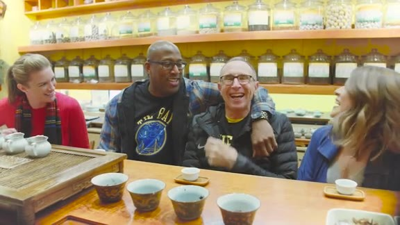 Chinatown Adventures with Warriors Coaches Mike Brown and Ron Adams
