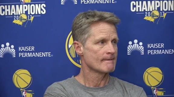 Warriors Talk: Steve Kerr - 3/22/18