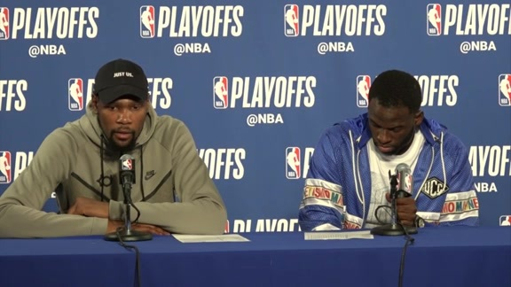 Postgame Warriors Talk: Durant and Green - 4/14/18