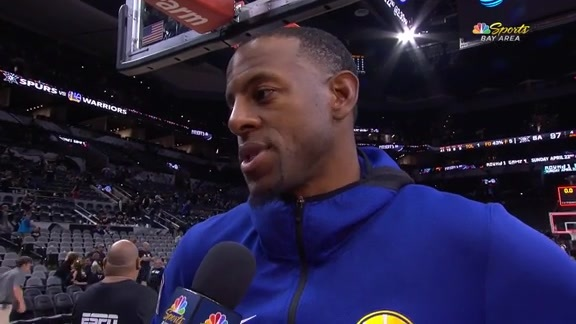 Postgame Warriors Talk: Andre Iguodala - 4/19/18 (NBCSBA)