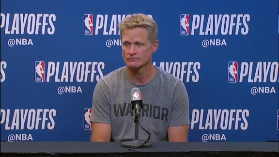 Postgame Warriors Talk: Steve Kerr - 4/19/18