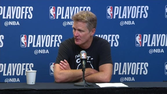 Postgame Warriors Talk: Steve Kerr - 4/22/18