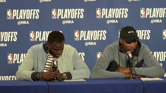 Postgame Warriors Talk: Kevin Durant & Draymond Green - 4/24/18