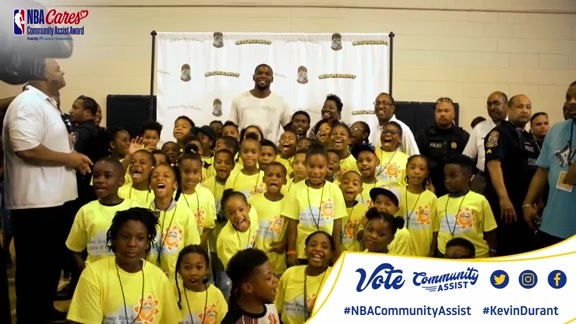 Vote Kevin Durant for the NBA Community Assist Award