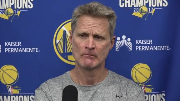 Warriors Talk: Steve Kerr - 4/26/18