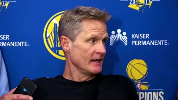 Warriors Talk: Steve Kerr - 5/19/18