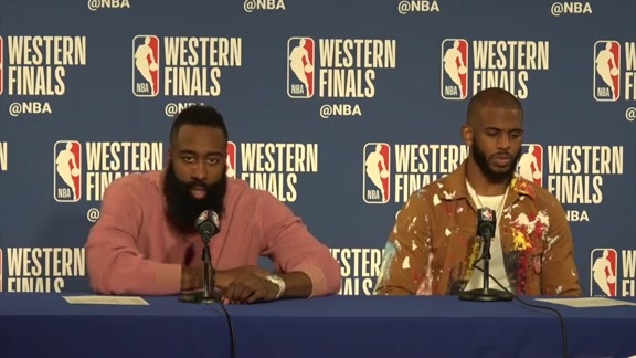 Rockets Postgame: James Harden and Chris Paul - 5/20/18