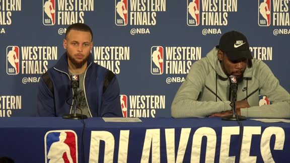 Postgame Warriors Talk: Stephen Curry and Kevin Durant - 5/22/18