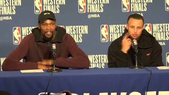 Postgame Warriors Talk: Durant and Curry - 5/26/18