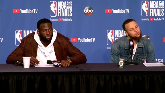 Postgame Warriors Talk: Draymond Green and Stephen Curry - 6/6/18