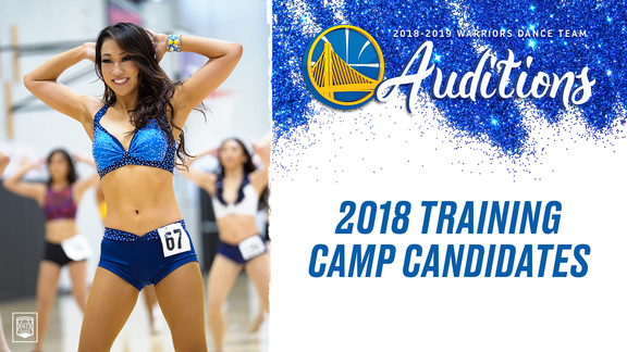 2018-19 Warriors Dance Team Training Camp Candidates