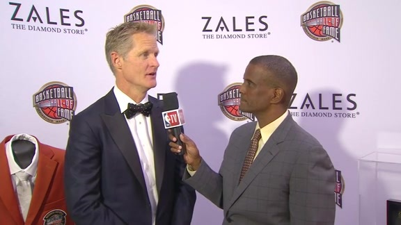 Steve Kerr at the Hall of Fame