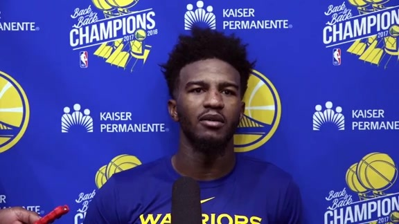 Warriors Talk: Jordan Bell - 9/25/18