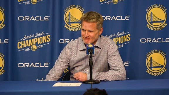 Postgame Warriors Talk: Steve Kerr 10.22.18