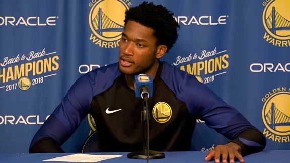 Postgame Warriors Talk: Damian Jones 10.22.18