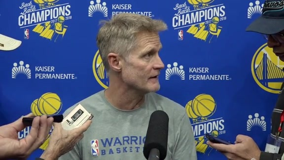 Warriors Talk: Steve Kerr - 11/20/18