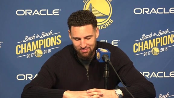 Postgame Warriors Talk: Klay Thompson - 11/26/18