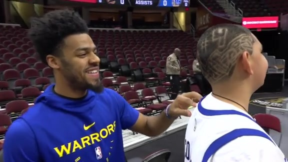 Warriors Sound: Quinn Cook's Bond with a 14-Year-Old Super Fan