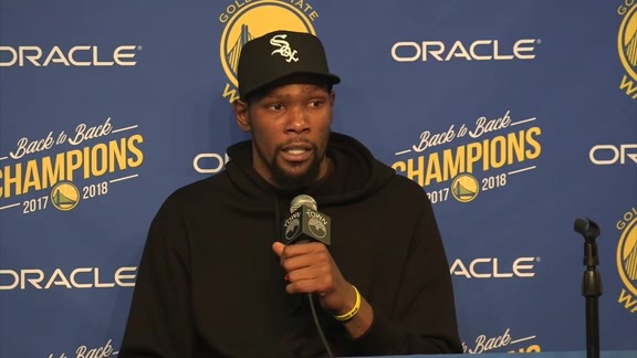 Postgame Warriors Talk: Kevin Durant - 01/16/19