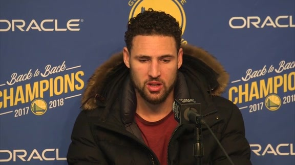 Postgame Warriors Talk: Klay Thompson - 01/16/19