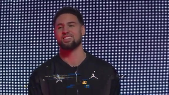Warriors Introduced at 2019 NBA All-Star Game