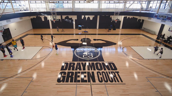 Warriors Unveil Draymond Green Court at Oakland YMCA