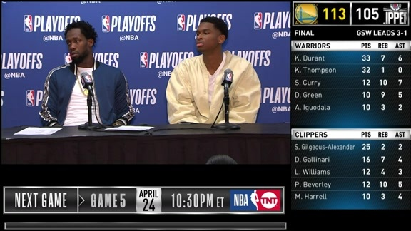 Clippers Postgame: Patrick Beverley and Shai Gilgeous-Alexander - 4/21/19