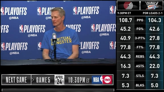 Postgame Warriors Talk: Steve Kerr - 4/21/19
