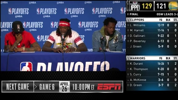 Clippers Postgame: Patrick Beverley, Lou Williams, Montrezl Harrell - 4/24/19