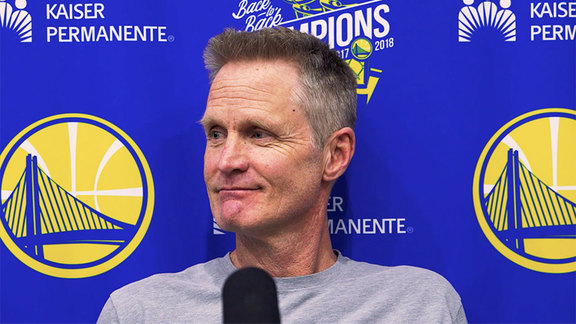 Warriors Talk: Steve Kerr - 4/25/19