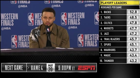 Postgame Warriors Talk: Stephen Curry - 5/18/19