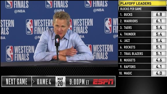 Postgame Warriors Talk: Steve Kerr - 5/18/19