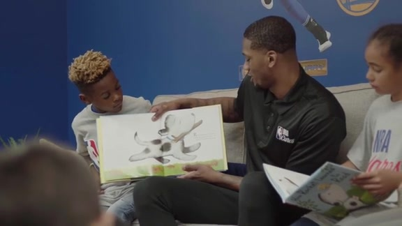 Warriors Dedicate NBA Cares Learn & Play Zone in Oakland