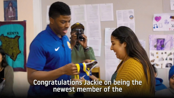Kelenna Azubuike Surprises Bay Area All-Star Scholarship Recipient