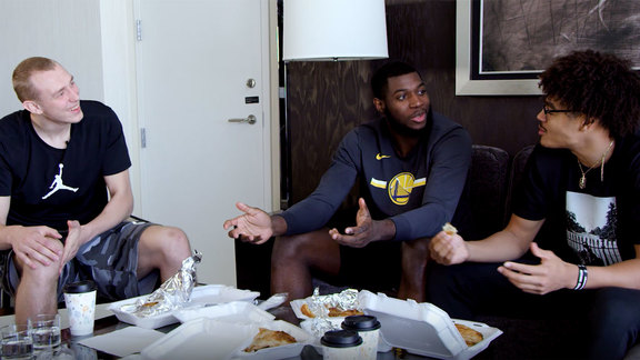 Dubs Rookies Try Serbian Food