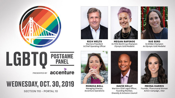 Rick Welts, Megan Rapinoe and Sue Bird to Highlight Warriors LGBTQ Night Postgame Panel, Presented By Accenture