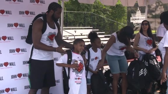 5th Annual John Wall Family Foundation Backpack Giveaway