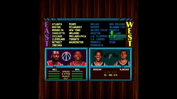 NBA Jam: Wizards Schedule Edition